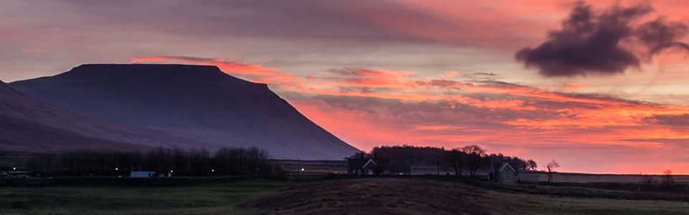 Sunset over Ingleborough, Yorkshire Dales