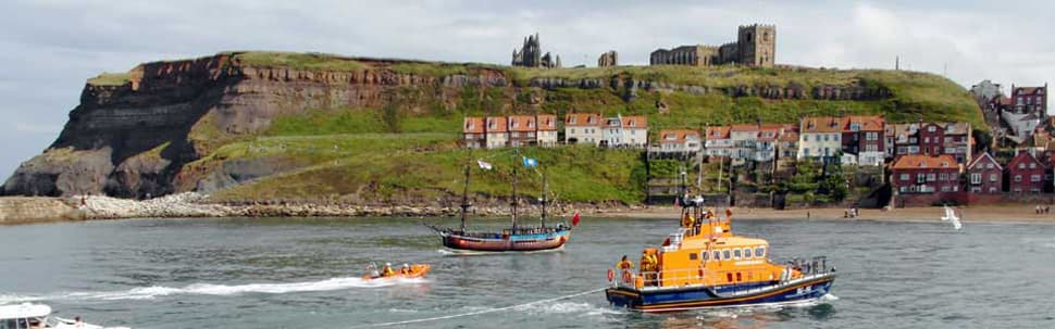 Whitby Abbey and Harbour, Yorkshire Coast