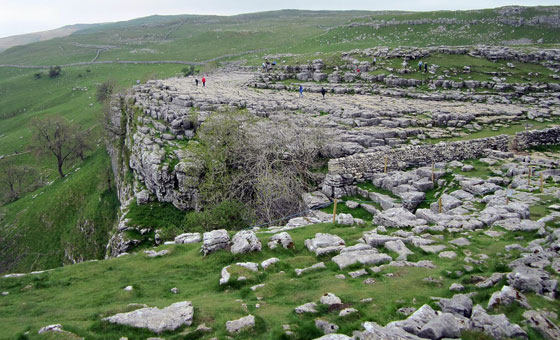 View over Malham Cove