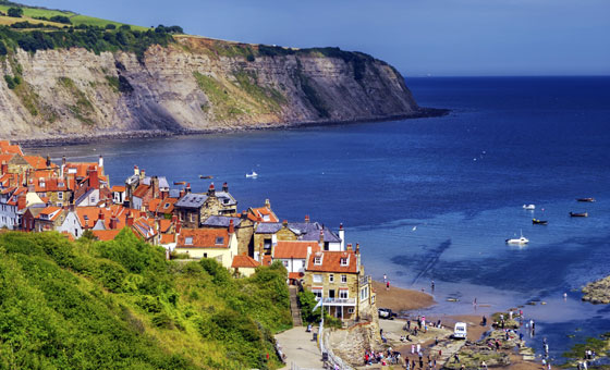 Yorkshire Coast Northern England  Whitby Scarborough Filey